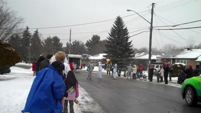 Passing the flame, Arnprior, ON, 13 December, 2009